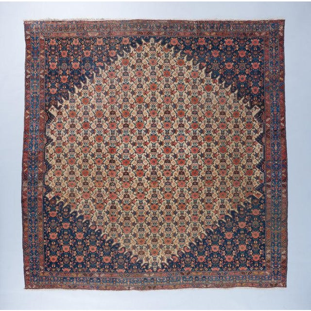 Late 19th Century Beige Ground Bibikabad Carpet For Sale - Image 5 of 5