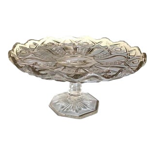 Miniature Muffin or Cake Stand, Vintage Clear Glass For Sale