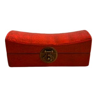 Red Saddle Shape Jewelry Box For Sale