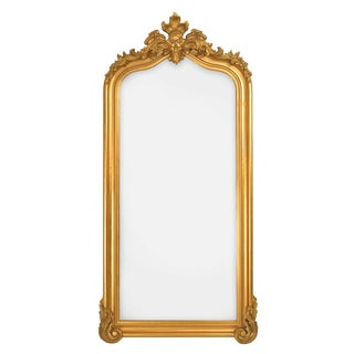 Blenheim Gold Crown Arched Full Length Floor Mirror For Sale