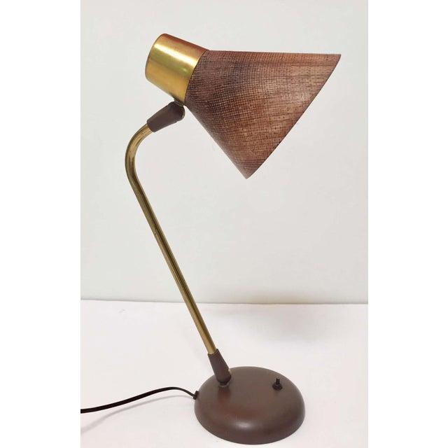 Mid-Century Modern Gerald Thurston Desk Table Lamp for Lightolier, 1950s For Sale - Image 3 of 13
