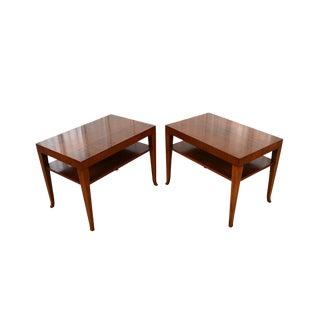 1950s Mid-Century Modern t.h. Robsjohn-Gibbings for Widdicomb Walnut Side Tables - a Pair For Sale