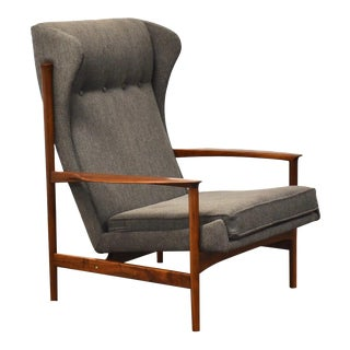 Ib Kofod Larsen Danish Modern Lounge Chair For Sale