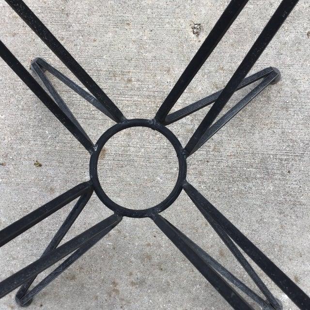 Mid 20th Century 20th Century Salterini Tempestini Wrought Iron Dining Patio Table Last Call For Sale - Image 5 of 9