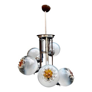 Handblown Murano Glass Chandelier by Mazzega For Sale