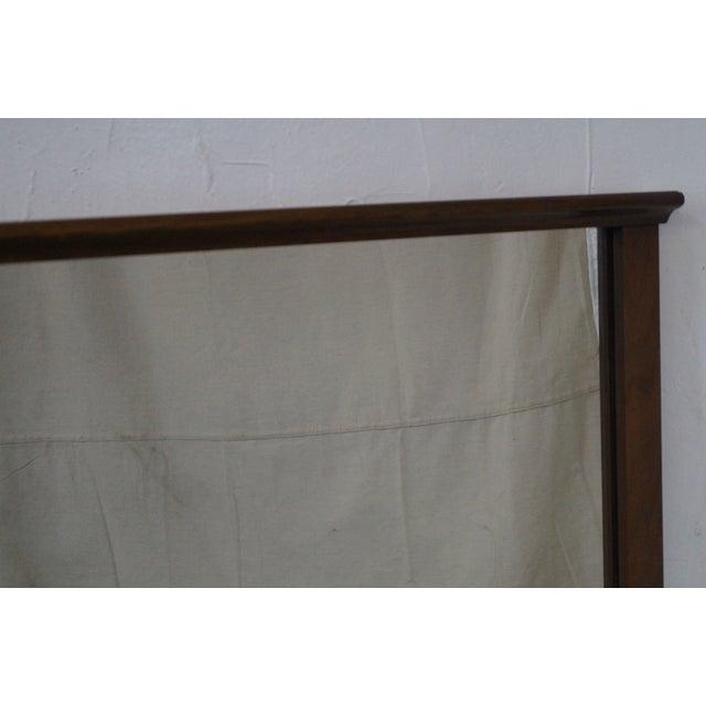 Mid-Century Modern Walnut Rectangular Wall Mirror - Image 8 of 10