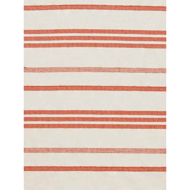 Sample, Scalamandre Marina Stripe Terracotta Fabric For Sale