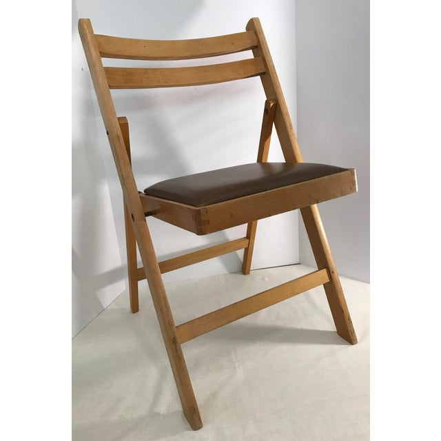 Vintage Wooden Folding Chair Made In Romania For Image 4 Of 11