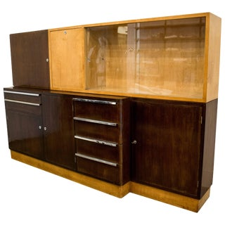Italian Cabinet With Birch and Rosewood Bar, Circe 1940's For Sale