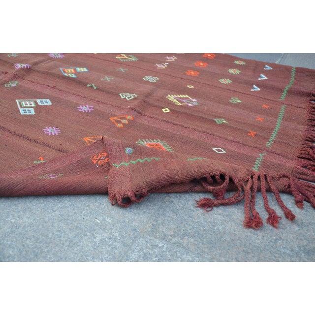 Nomadic Turkish Wool Bohemian Rug - 4′8″ × 7′8″ For Sale - Image 5 of 6