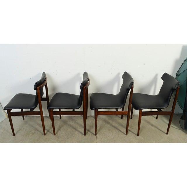Black 1960s Vintage Klingenberg for Fristho Danish Modern Rosewood Dining Chairs- Set of 4 For Sale - Image 8 of 10