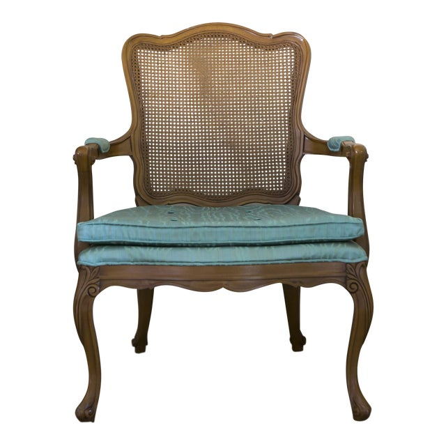Vintage Cane Back Chair For Sale