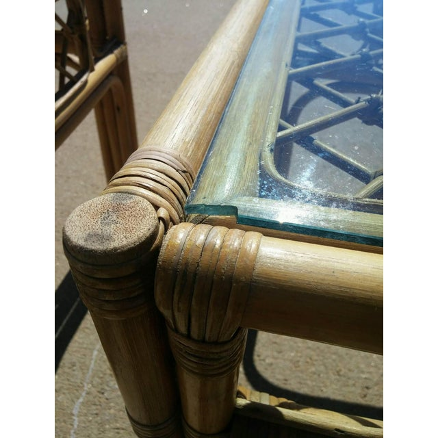 Mid Century Faux Bamboo Tables - Pair - Image 4 of 4