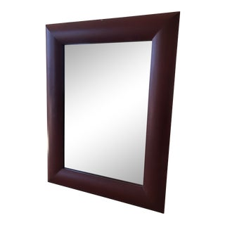 Maroon Framed Oversized Mirror For Sale