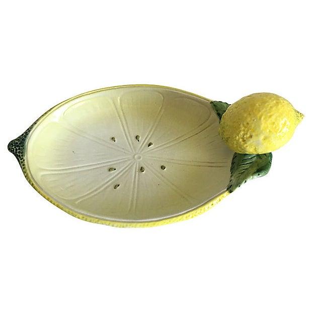 Majolica Italian Majolica Lemon Platter For Sale - Image 4 of 8