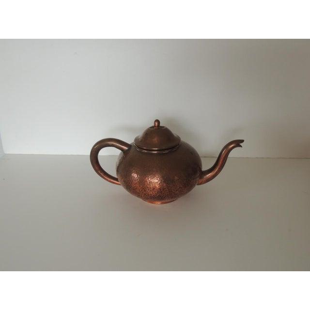 Arts & Crafts Vintage Copper Tea or Coffee Serving Set. For Sale - Image 3 of 6