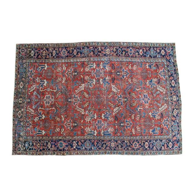 "Vintage Heriz Carpet - 7'6"" X 11'1"" - Image 1 of 10"