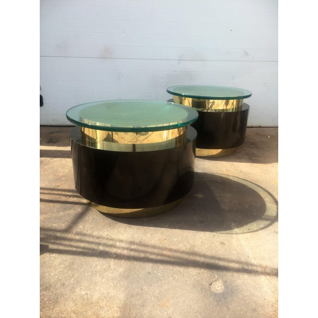 Gold & Black Tables - A Pair For Sale - Image 4 of 9