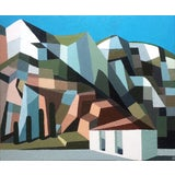 Image of Contemporary Oil Painting by Andy Dobbie, Holyhead Breakwater Country Park I For Sale