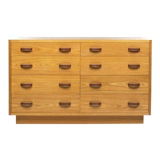 Ralph Lauren Oak and Leather Dresser For Sale