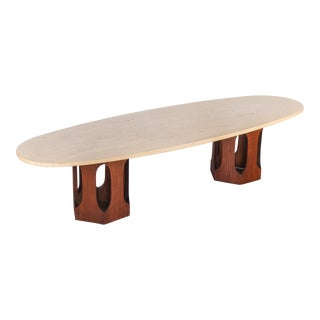 Harvey Probber Travertine Coffee Table For Sale