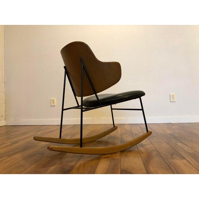 Ib Kofod-Larsen Vintage Kofod Larsen Penguin Rocking Chair For Sale - Image 4 of 12