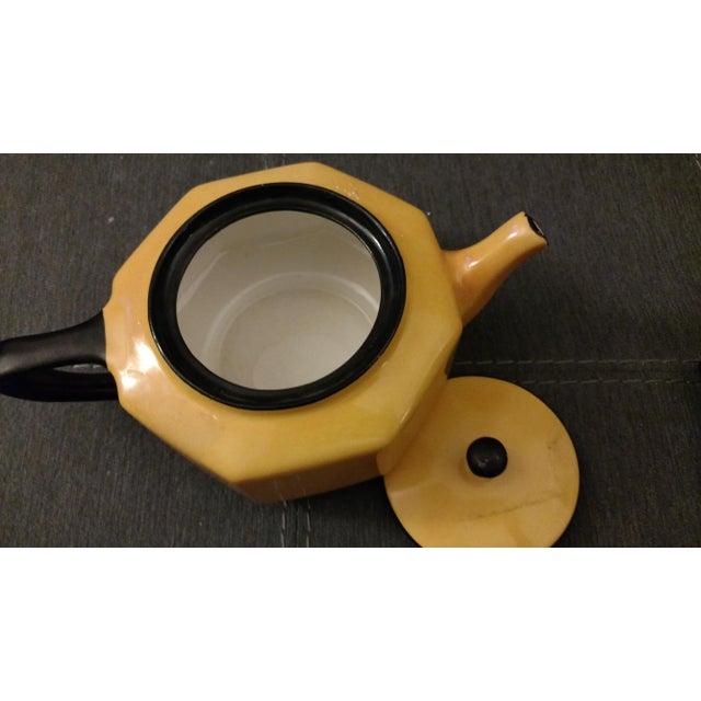 Steuben 1957 Antique Steubenville China Teapot For Sale - Image 4 of 5