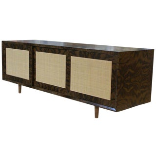 Customizable Adams Caned-Door Console For Sale