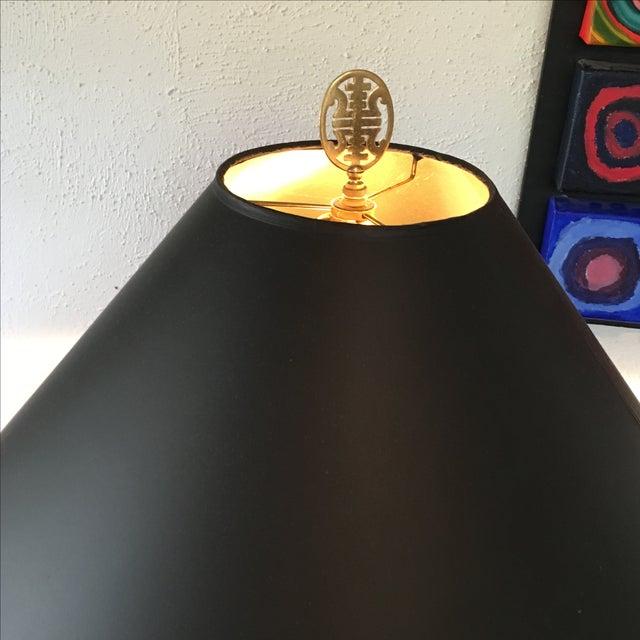 Large Jade Green Porcelain Glazed Lamp - Image 4 of 6