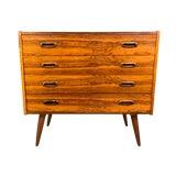 Image of 1960's Vintage Danish Mid Century Modern Rosewood Low Boy Dresser For Sale