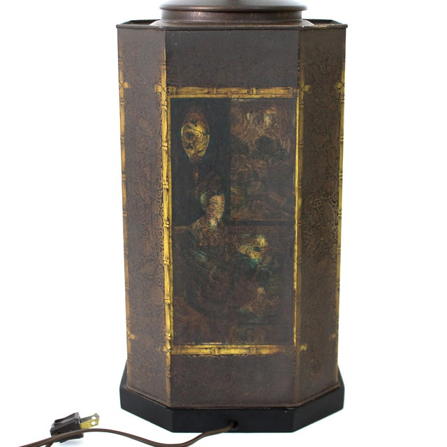 Chapman Asian Toleware Tea Canister Lamp - Image 5 of 7
