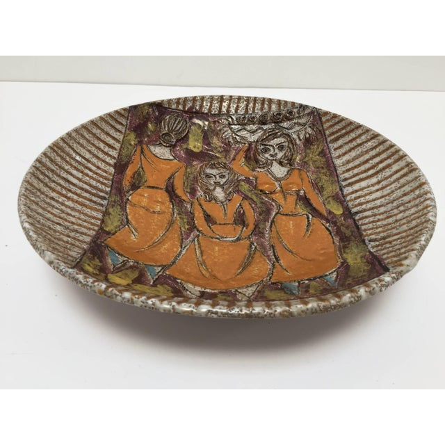 Ceramic Handcrafted Italian Art Studio Pottery Plate For Sale - Image 7 of 7