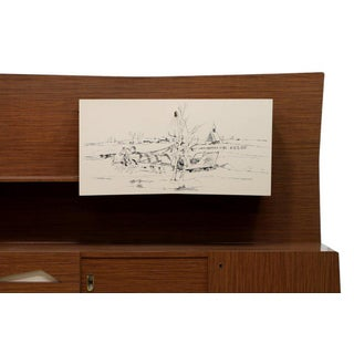 Piero Fornasetti Styled 1950s Italian Mid-Century Modern Formica Front Sideboard Preview