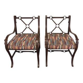Bridle Strap and Buckle Chairs - a Pair For Sale