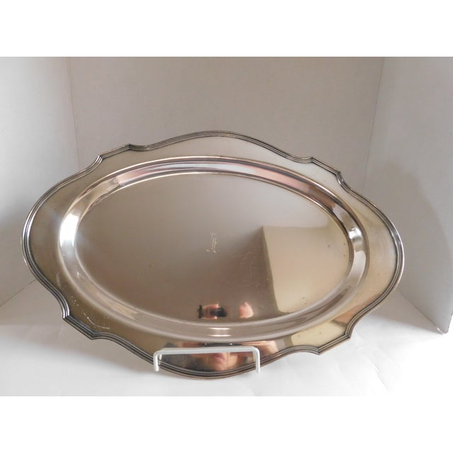 e.g Webster & Sons Antique Silver Serving Tray For Sale - Image 10 of 11