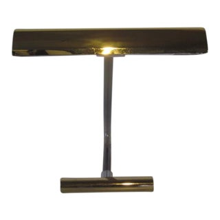 Peter Hamburger Brass and Lucite Desk Lamp For Sale