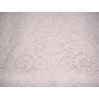 4-1/8y Ralph Lauren Lcf66116f Hazel Wood Damask Limestone Upholstery Fabric For Sale