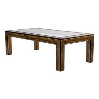 Large Mastercraft Rectangular Coffee Table For Sale