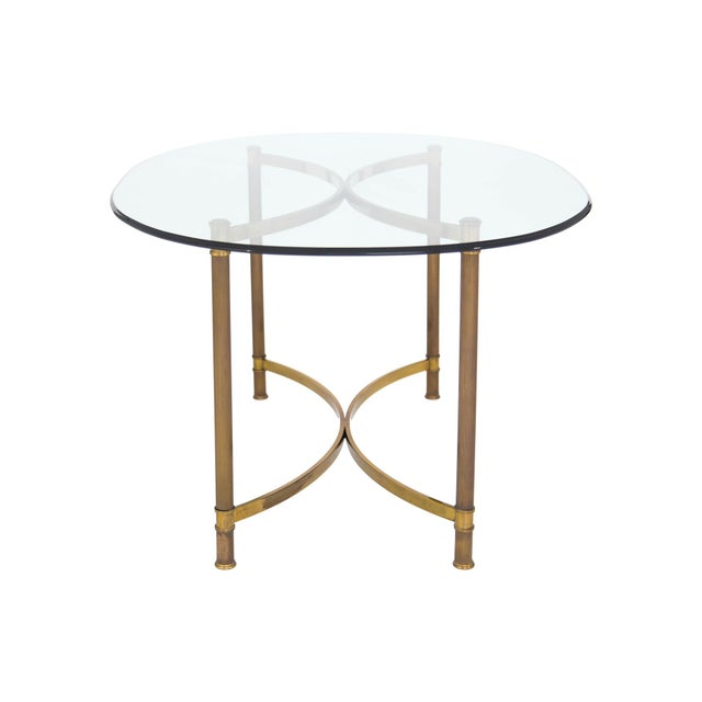 Oval Brass & Glass Dining Table - Image 7 of 9