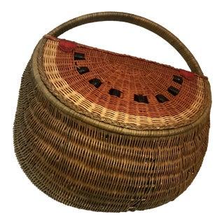 Watermelon Wicker Basket