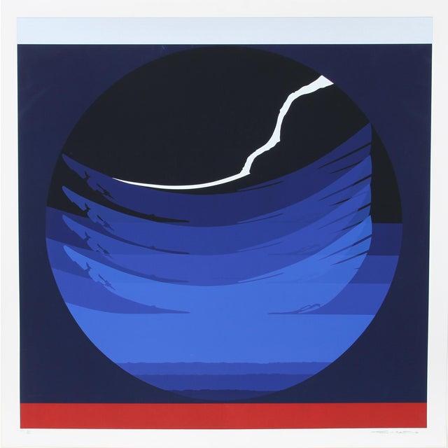 Artist: Thomas W. Benton, American (1930 - 2007) Title: Gate Series Blue Year: 1980 Medium: Silkscreen, Signed and...