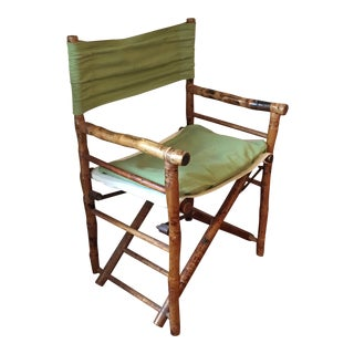 Antique Tiger Bamboo Folding Safari Chair