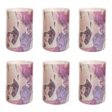 Image of Stories of Italy Nougat Tumblers - Ruby, Set of 6 For Sale