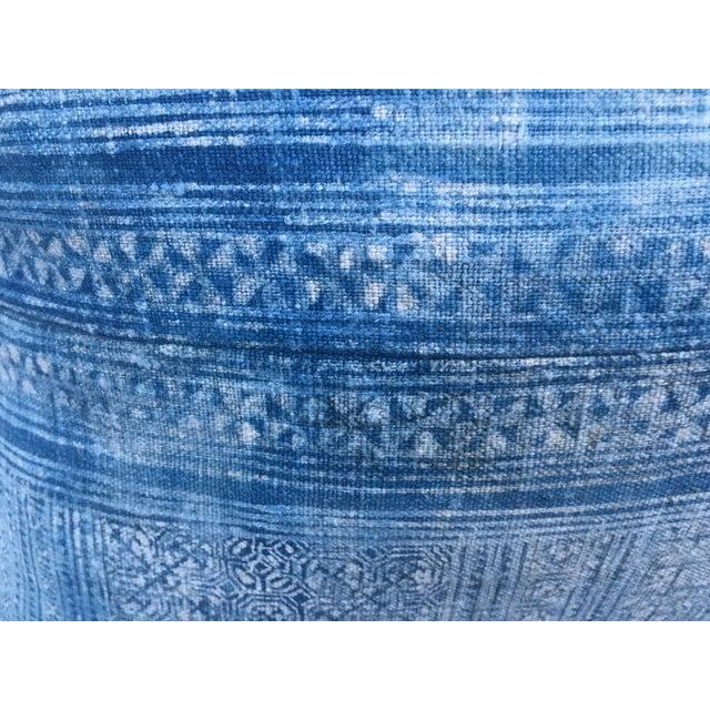 Vintage Batik Linen Pillows - A Pair - Image 6 of 7