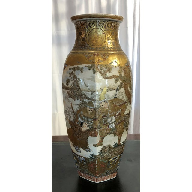 Asian Antique Japanese 19th Century Satsuma Temple Urn For Sale - Image 3 of 3