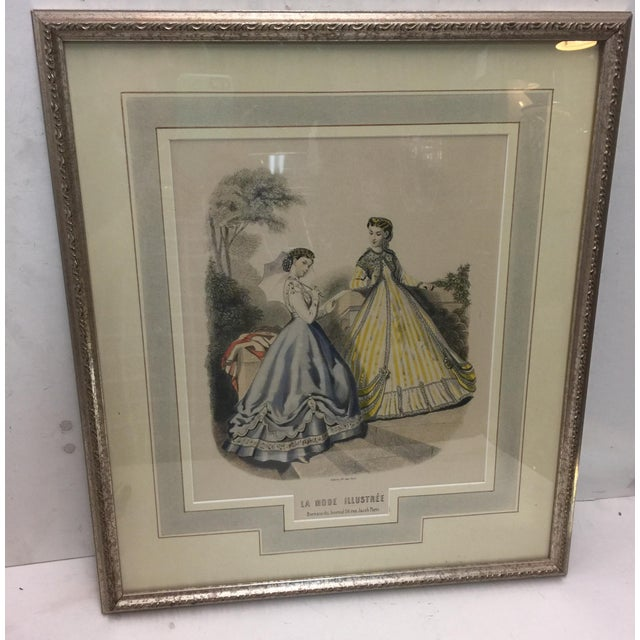 Antique French Fashion Print For Sale - Image 4 of 4