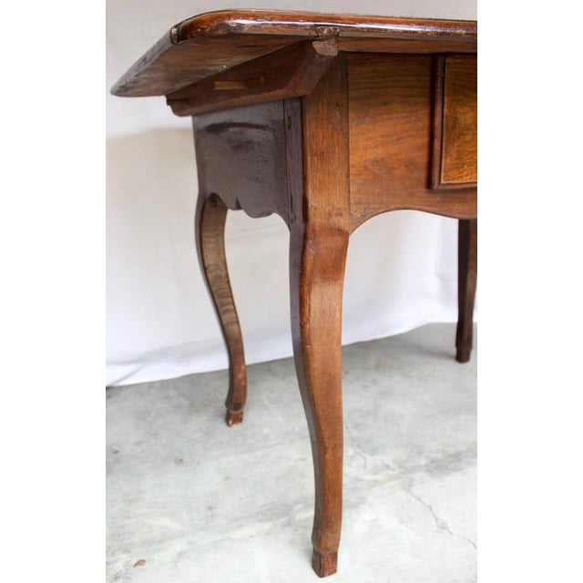 Wood 17th Century Antique Louis XV French Chestnut Desk / Side Table For Sale - Image 7 of 9