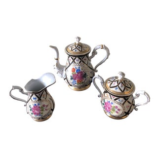Vintage French Limoge Holiday Coffee Set of 3 For Sale