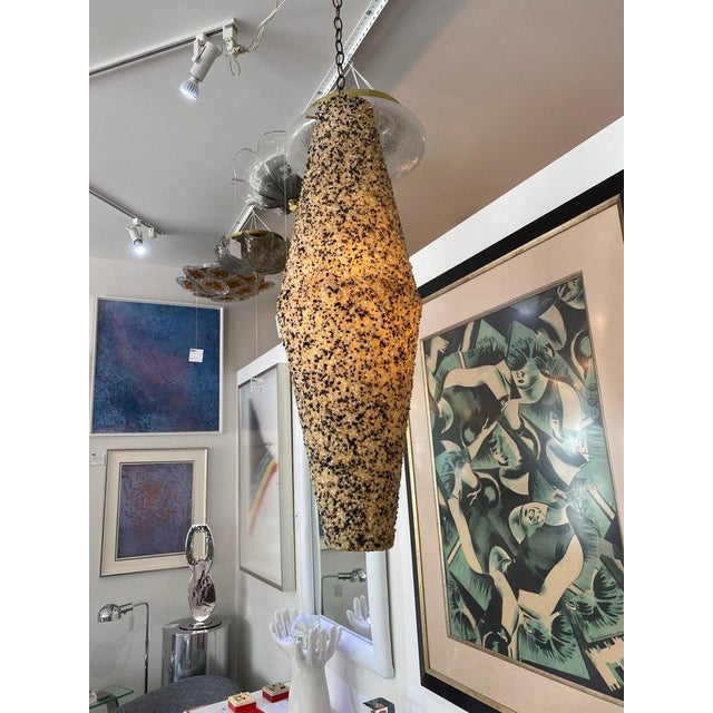Mid-Century Modern Mod Mid-Century Modern Pendant Chandelier Tumbled Glass For Sale - Image 3 of 11