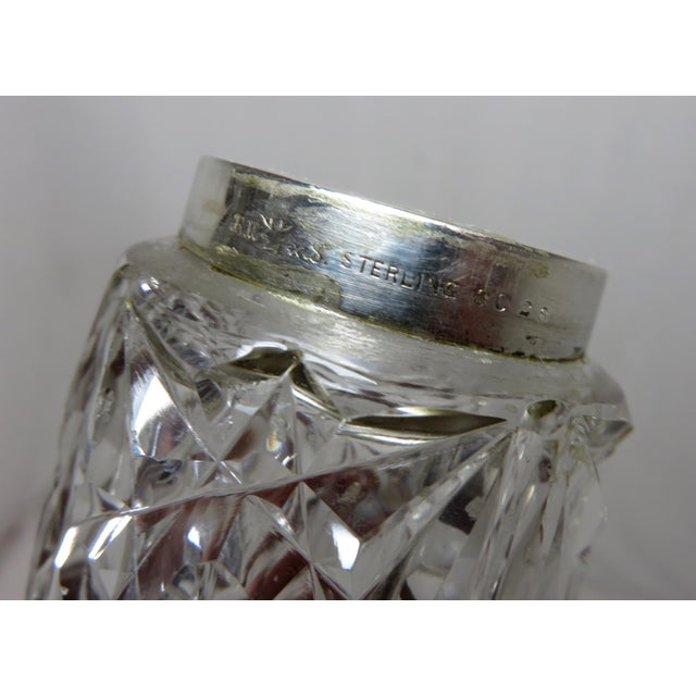 Early 20th Century Antique Wallace Silversmiths Crystal & Sterling Silver Sugar Shaker For Sale - Image 9 of 13